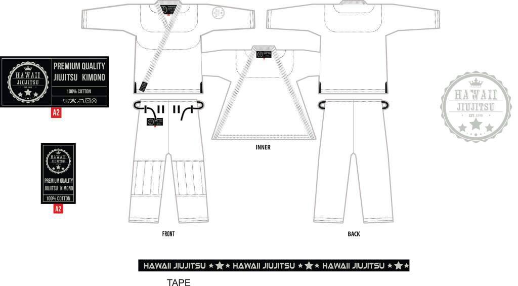 Hawaii JiuJitsu Kimono