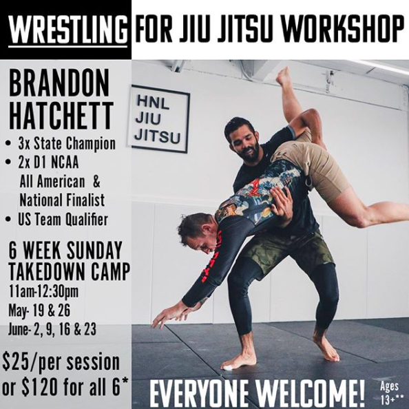 Camp / Workshop | Wrestling for Jiu Jitsu | HNL Jiu Jitsu Academy